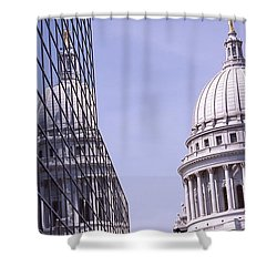 Low Angle View Of A Government Shower Curtain by Panoramic Images