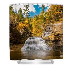 Lower Treman Falls Shower Curtain