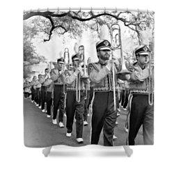 Lsu Marching Band Vignette Shower Curtain by Steve Harrington