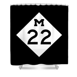 M 22 Shower Curtain