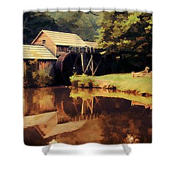 Mabrys Mill Shower Curtain by Darren Fisher