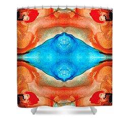 Magic Mirror - Abstract Art By Sharon Cummings Shower Curtain by Sharon Cummings