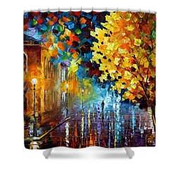 Magic Rain Shower Curtain by Leonid Afremov