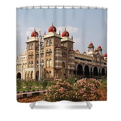 Maharaja's Palace And Garden India Mysore Shower Curtain by Carol Ailles