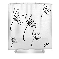 Make A Wish Shower Curtain by Marianna Mills