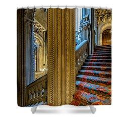 Mansion Stairway Shower Curtain by Adrian Evans