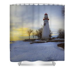 Marblehead Lighthouse Lake Erie Shower Curtain