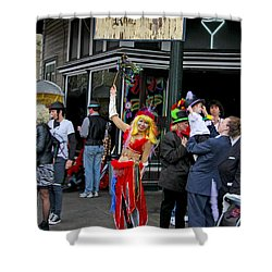 French Quarter Mardi Gras Shower Curtain
