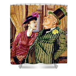 Margaret And W.c. Fields Shower Curtain