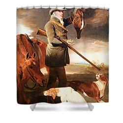 Marshall's J G Shaddick -- The Celebrated Sportsman Shower Curtain by Cora Wandel