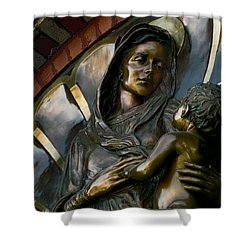 Mary And Jesus Shower Curtain by Daniel Hagerman