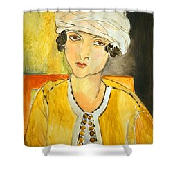Matisse's Lorette With Turban And Yellow Jacket Shower Curtain