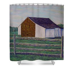 Mcphersons Barn Gettysburg Shower Curtain by Joann Renner