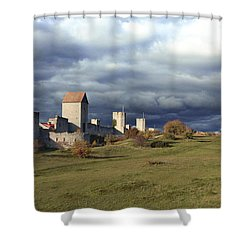 Medieval City Wall Defence Shower Curtain