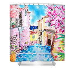 Mediterranean Wind Shower Curtain