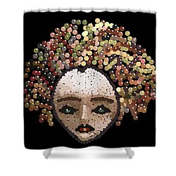 Medusa Bedazzled After Shower Curtain