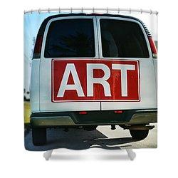 Meeting Warhol Shower Curtain by Laura Fasulo