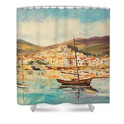 Mentone Harbour Shower Curtain