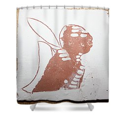 Micah - Tile Shower Curtain by Gloria Ssali