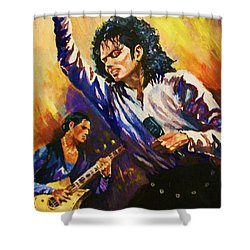 Michael Jackson In Concert Shower Curtain by Al Brown