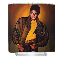 Michael Jackson Shower Curtain by Paul Meijering