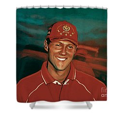 Michael Schumacher Shower Curtain by Paul Meijering
