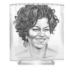 Michelle Obama Shower Curtain by Murphy Elliott