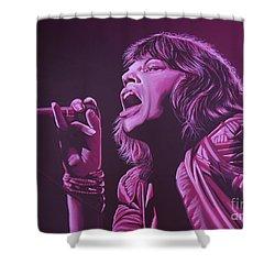 Mick Jagger 2 Shower Curtain by Paul Meijering