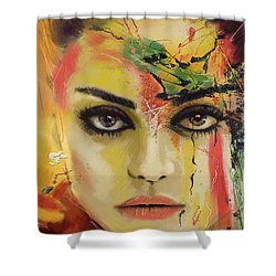 Mila Kunis  Shower Curtain by Corporate Art Task Force