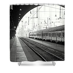 Milan Central Station Shower Curtain by Valentino Visentini