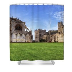 Milton Abbey Shower Curtain by Joana Kruse