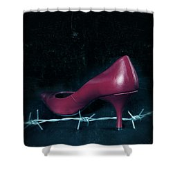 Mind Your Steps Shower Curtain by Joana Kruse