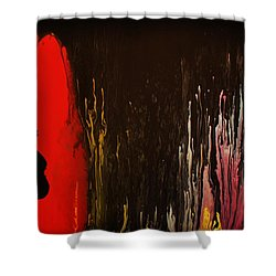 Shower Curtain featuring the painting Mingus by Michael Cross