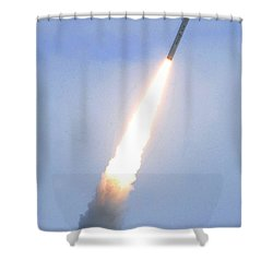Minotaur Iv Lite Launch Shower Curtain by Science Source