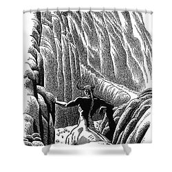 Minotaur, Legendary Creature Shower Curtain by Photo Researchers