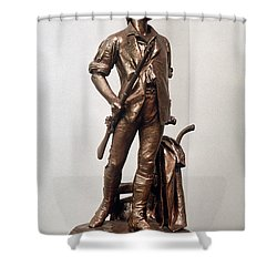 Minutemen Soldier Shower Curtain by Granger