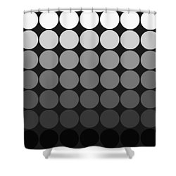 Mod Pop Gradient Circles Black And White Shower Curtain
