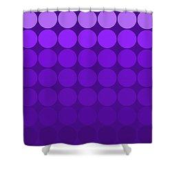 Mod Pop Mid-century Gradient Circles Purple Shower Curtain