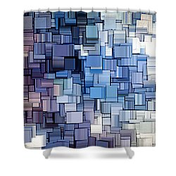 Modern Abstract Vi Shower Curtain by Lourry Legarde