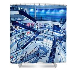 Modern Shopping Mall Interior Shower Curtain by Michal Bednarek