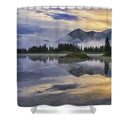 Molas Lake Sunrise Shower Curtain