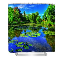Monet's Lily Pond Shower Curtain by Midori Chan