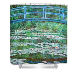 Shower Curtain featuring the photograph Monet's The Japanese Footbridge by Cora Wandel