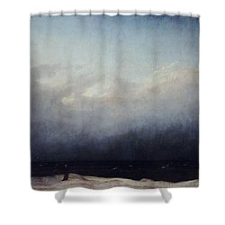 Monk By Sea Shower Curtain by  Caspar David Friedrich