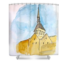 Mont Saint Micheal Shower Curtain