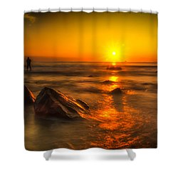 Montauk New York Summer Sunrise Shower Curtain