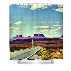 Easy Riding Thru Monument Valley Az/ut Usa Shower Curtain