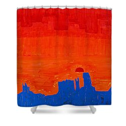 Monument Valley Original Painting Shower Curtain