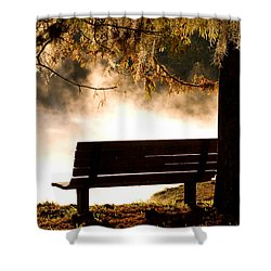 Morning Mist At The Spring Shower Curtain