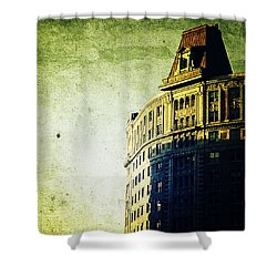 Morningside Heights Green Shower Curtain by Natasha Marco